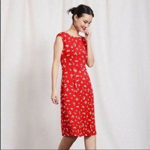 Boden Red Marina Jersey Dress Size US 10L